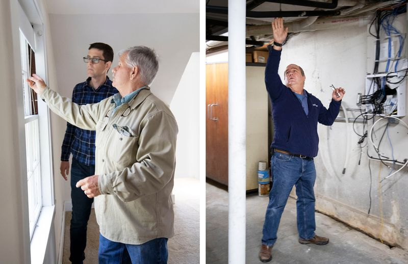 Fall 2021, TOH TV project, Concord Country Cape, Tom Silva and Richard Trethewey during the inspection phase