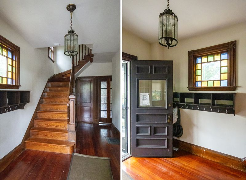 Entryway of the West Roxbury project house