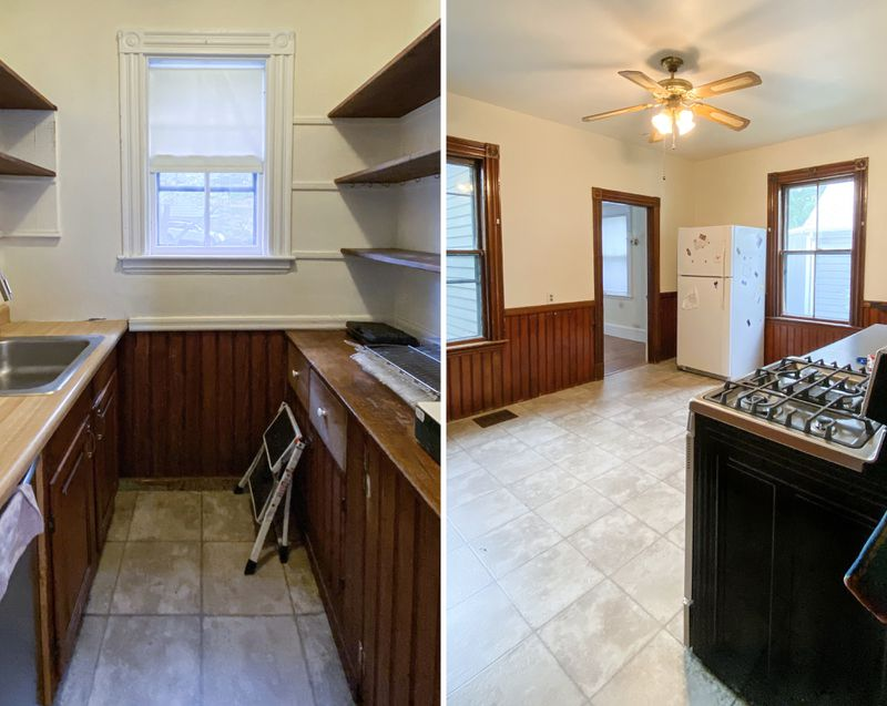 Inside the kitchen of the West Roxbury project